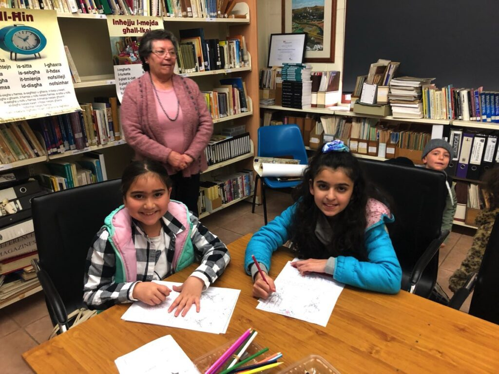 Aliyah and Jaidah with Mrs Bonnici