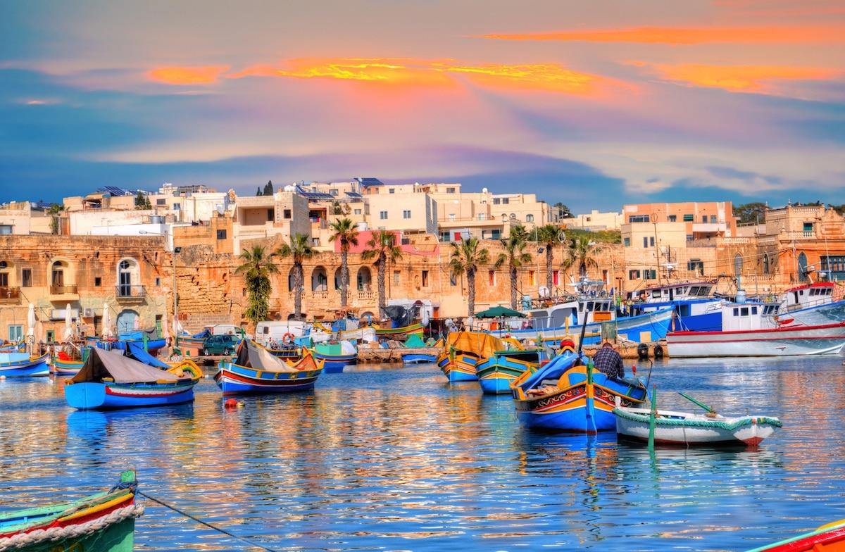 Malta historical port