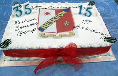 Reskeon Anniversary cake