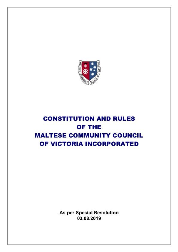 MCCV Inc Constitution Revised 2019