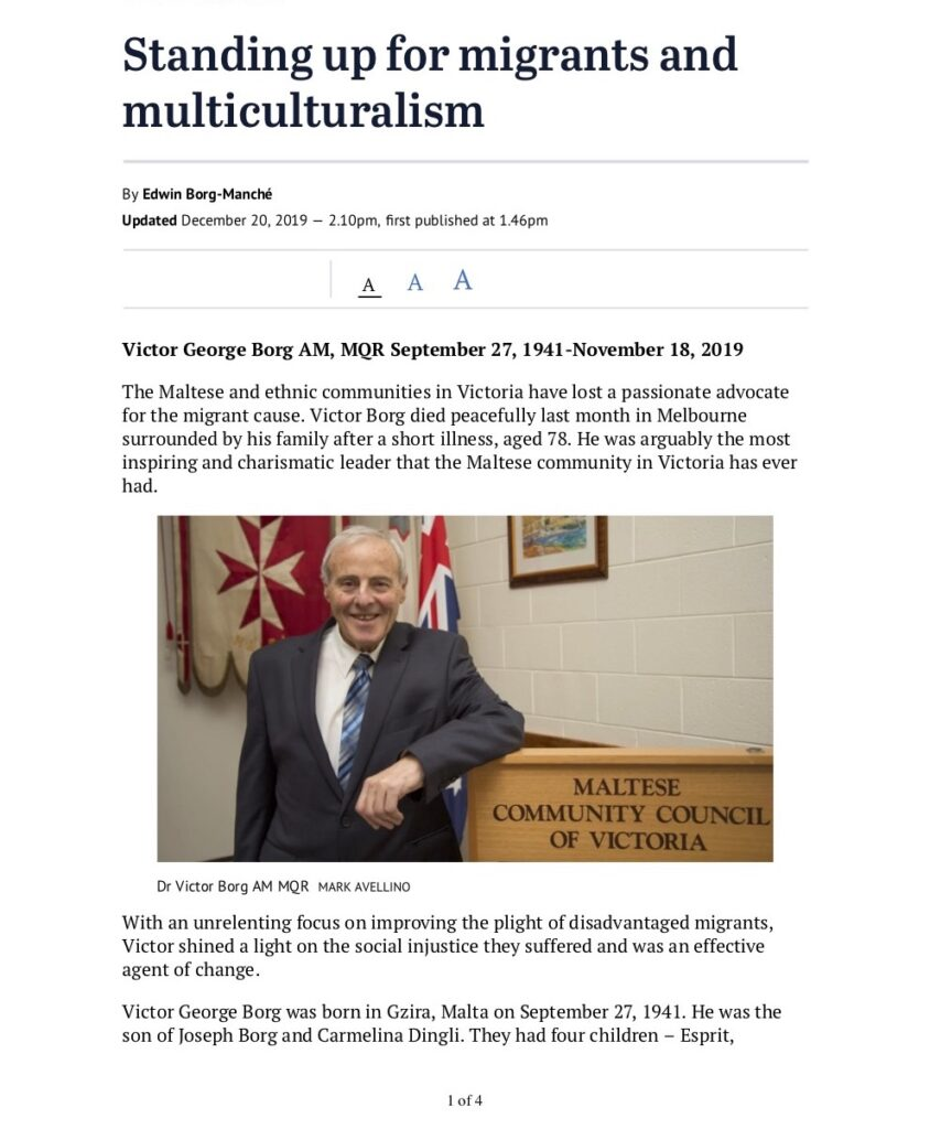 Standing up for migrants and multiculturalism