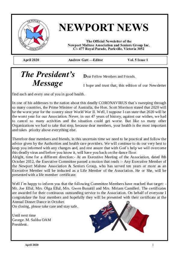 Newport News Vol 5 Issue 1