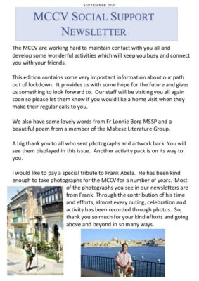 MCCV Social Support - September 2020